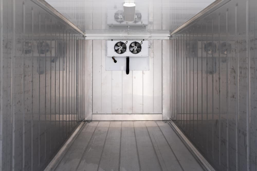 Refrigerated container inside