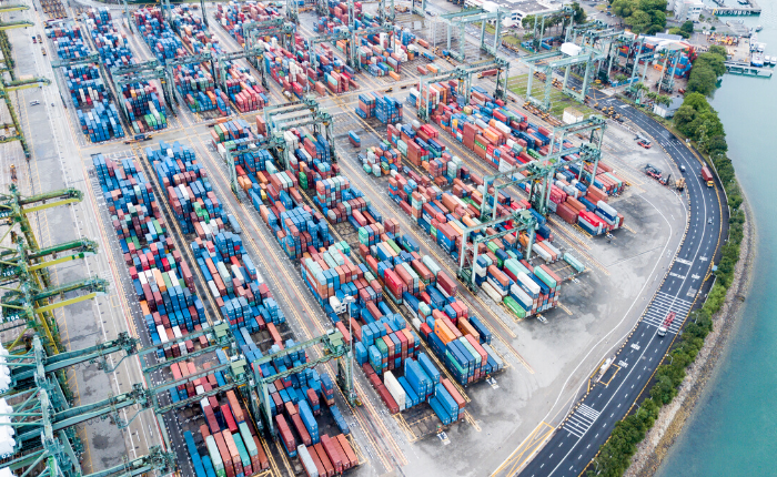 Singapore the world's top transhipment port