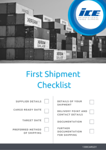 Your first shipment checklist