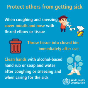 coronavirus poster protect yourself and others