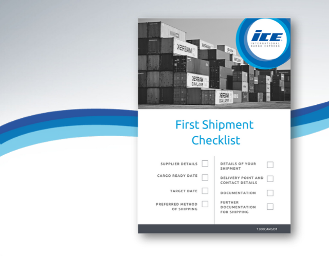 first shipment checklist blog