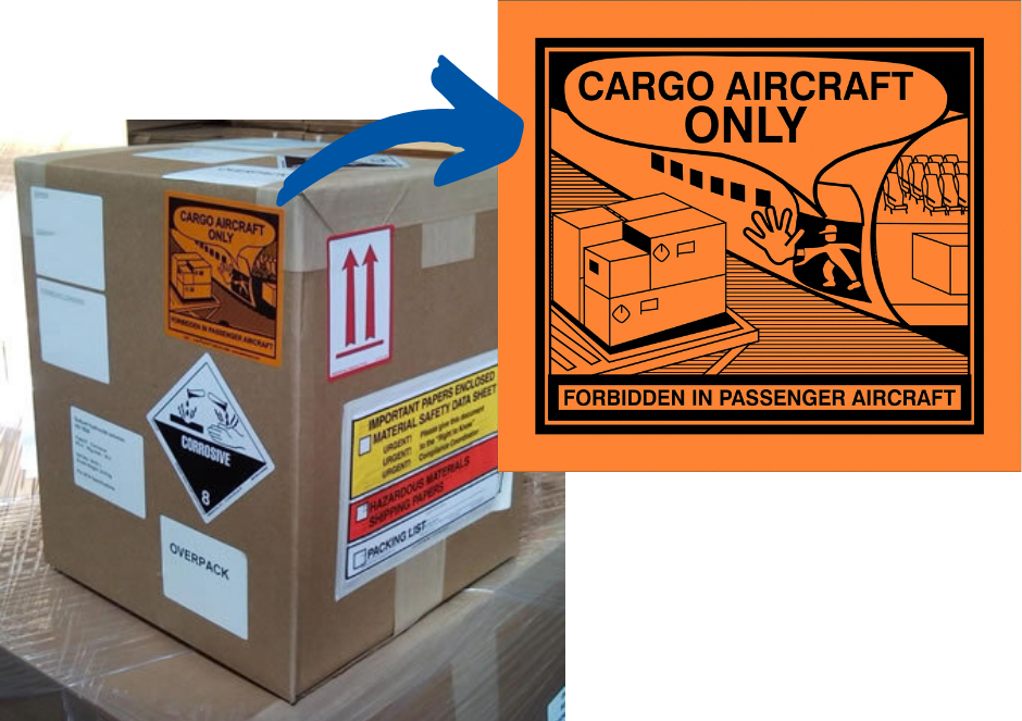 for cargo aircraft only packing example