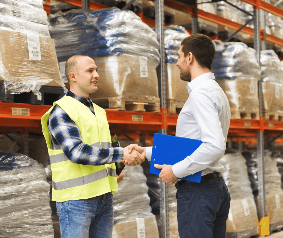 A freight forwarder closing a deal with an importer